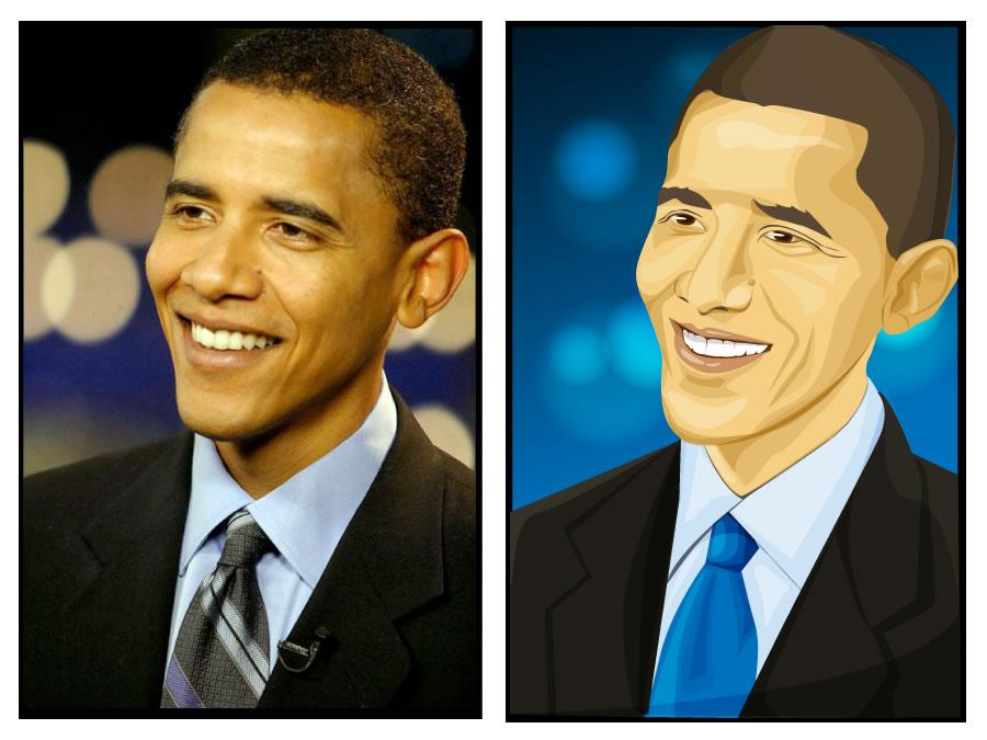 Vectorizing Barack Obama - Matthew Inman