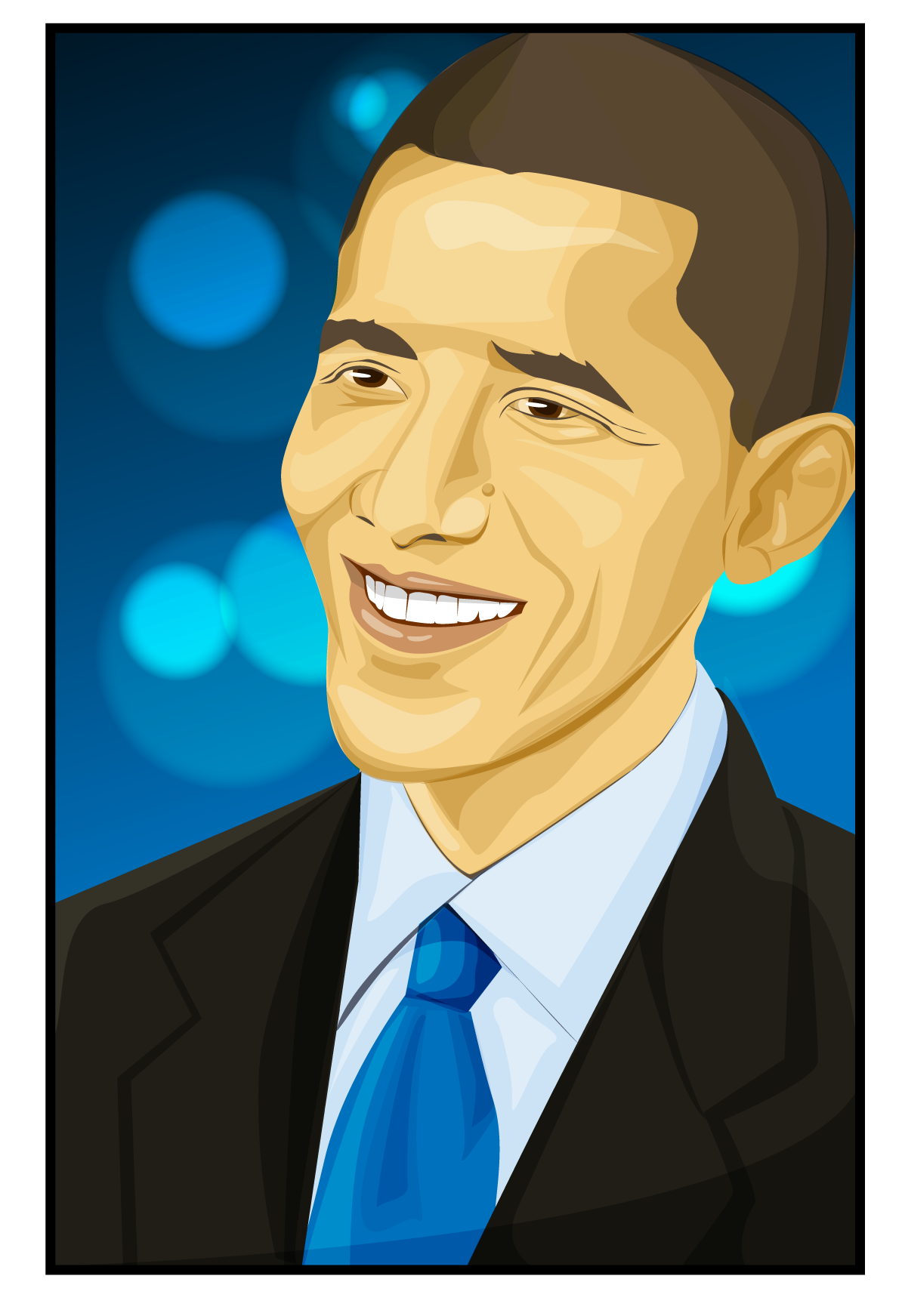 Barack Obama Vectored Illustration