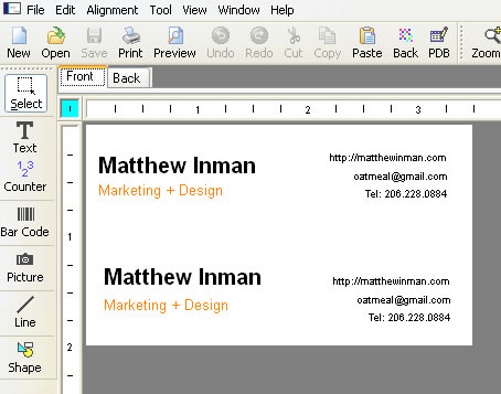 How to make awesome business cards at home matthew inman screenshot 2 colourmoves
