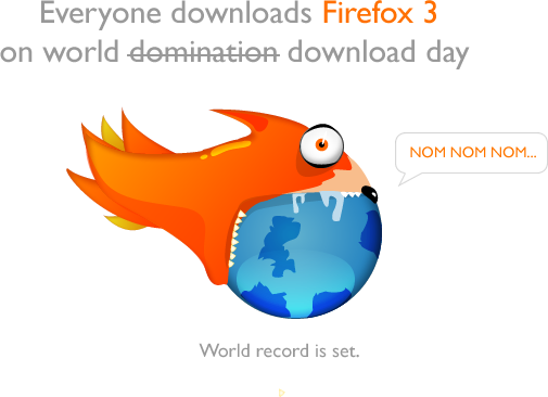 Everyone downloads firefox 3