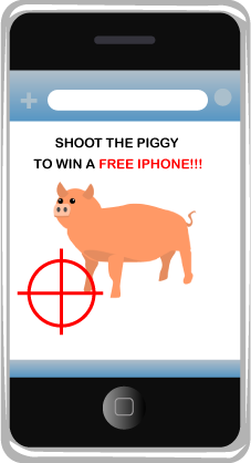 Shoot the piggy to win a free iPhone!